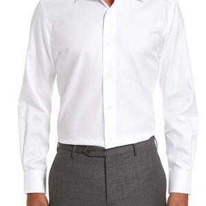 David Donahue Trim Fit Textured Men's Dress Shirt